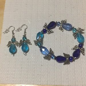 Handmade bracelet and earrings